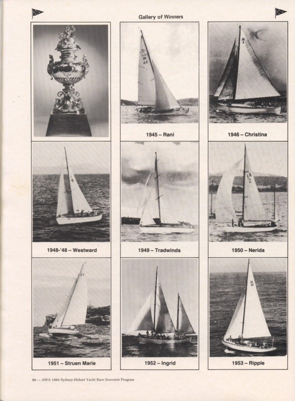 Sydney to Hobart Yacht Race 1984 Souvenir Program Page 8
