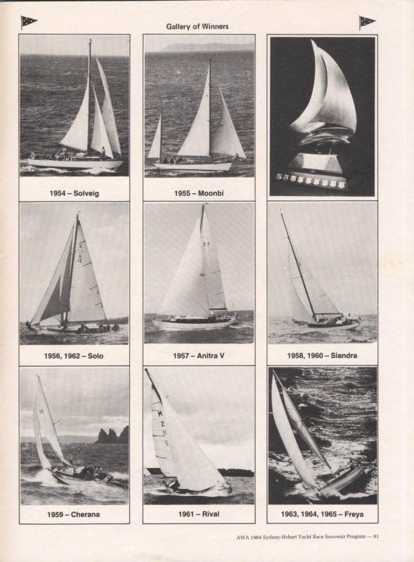 Sydney to Hobart Yacht Race 1984 Souvenir Program Page 9