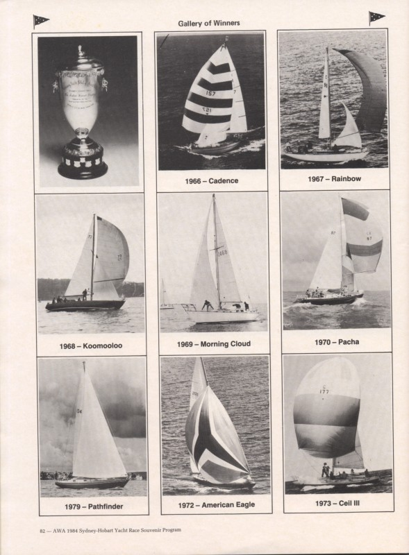 Sydney to Hobart Yacht Race 1984 Souvenir Program Page 10