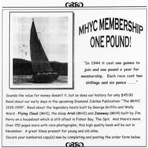MHYC Membership One Pound