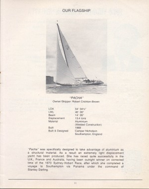 Middle Harbour Regatta 1972 - Pacha was the flagship