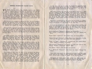 Middle Harbour Regatta 1959 - History of MHYC