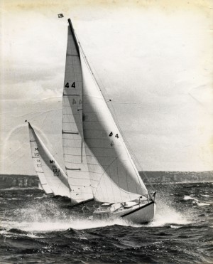 Barima II 44 (Ron Derrin) and Aphrodite MH103 (John Walker) off Manly 1973