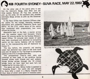 Sydney to Suva Yacht Race 1982