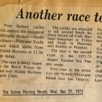 Article on the 1972 South Solitary Island Race