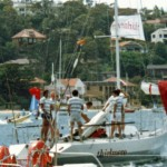 Thirmere going to the start of the Sydney to Hobart Yacht Race 1984