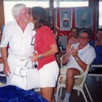 Mooloolaba 1991 Briefing - Keith Tierney presenting winners prize to Julie Hodder
