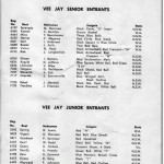copy of the entry list for the 1959-60 Australian Championships sailed at Vaucluse