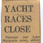 Yacht Races Close - Bluebirds and Endeavours