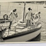 Odyssey at Middle Harbour Yacht Club. Start of the Sydney to Brisbane Yacht Race 1974. John Gleeson, John Duggan, Charlie Herbert