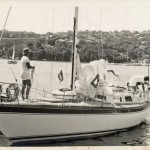 Odyssey at Middle Harbour Yacht Club. Start of the Sydney to Brisbane Yacht Race 1974.