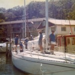 Ragamuffin (Rags) leaving Mosman Bay 1976