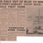 Siandra Sails out of Blue to win 1958 Hobart