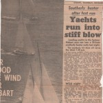Yacht run into a stiff blow 1956 Hobart