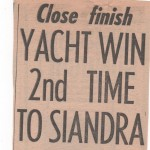 Yacht Win 2nd Time to Siandra Hobart 1960