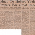 Sydney to Hobart Yachts Prepare for Great Race Hobart 1960