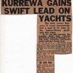 Kurrewa Gains Swift Lead on Yacht Hobart 1960