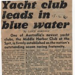 Middle Harbour Yacht Club leads in the Blue Water 1961