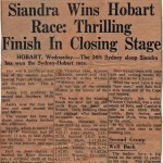 Siandra Wins 1958 Hoart Race