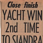 Close finish Yacht Win 2nd Time to Siandra Hobart 1960
