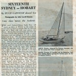 16th Sydney to Hobart Article in Powerboat and Yachting 1961 Page 1