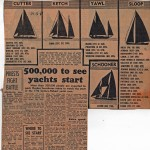 500,000 to see yachts start Hobart 1961
