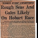 Worst Ever Conditions 1961 Hobart