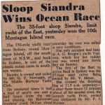 Sloop Siandra Wins 10th Montague Island Race 1959