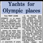 Yachts for Olympic places