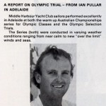 A Report on Olympic Trial - from Ian Pullar