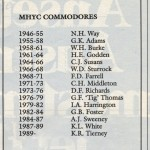 MHYC Commodores to 1989