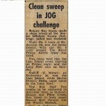 Clean Sweep in JOG Challenge - Daily Telegraph 4th Feb 1972