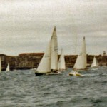 Diamond Cutter at the start of the 1980 Sydney to Hobart Yacht Race