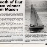 Death of first race winner Jim Mason