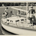 Odyssey at Middle Harbour Yacht Club. Start of the Sydney to Brisbane Yacht Race 1974. John Gleeson, Bob Quinn John Duggan